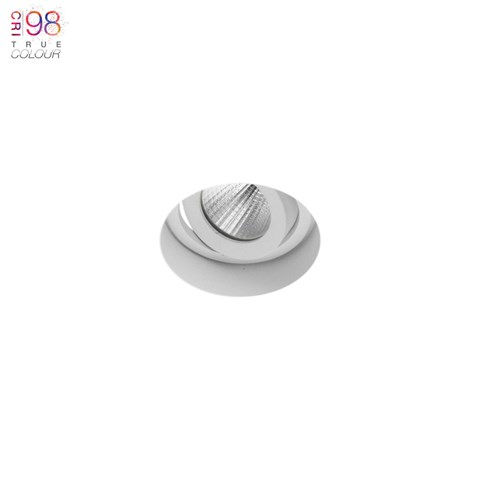 Image of Eiger Mini 1-R Round Adjustable Plaster In LED Downlight