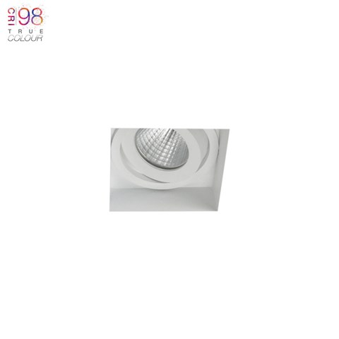 Image of Eiger Mini 1-S Square Adjustable Plaster In LED Downlight