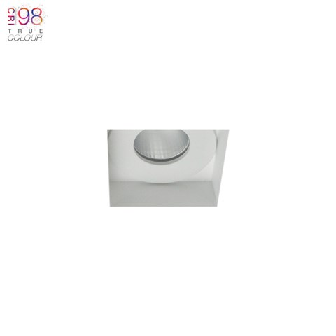 Image of Eiger Mini 1-S Square IP65 Fixed Plaster In LED Downlight