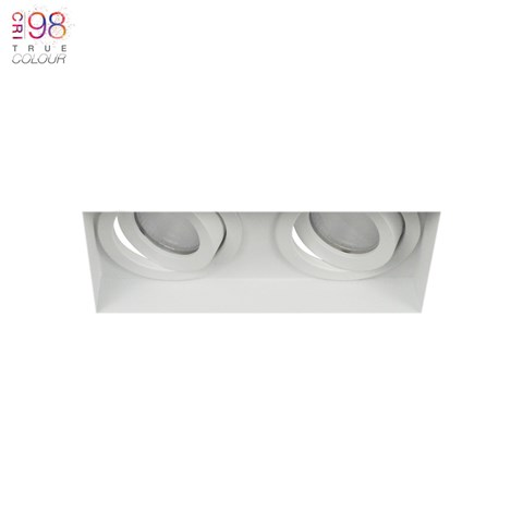 Image of Eiger Mini 2 Twin Adjustable Plaster In LED Downlight