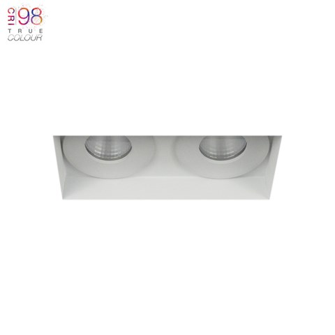 Image of Eiger Mini 2 Twin IP65 Fixed Plaster In LED Downlight