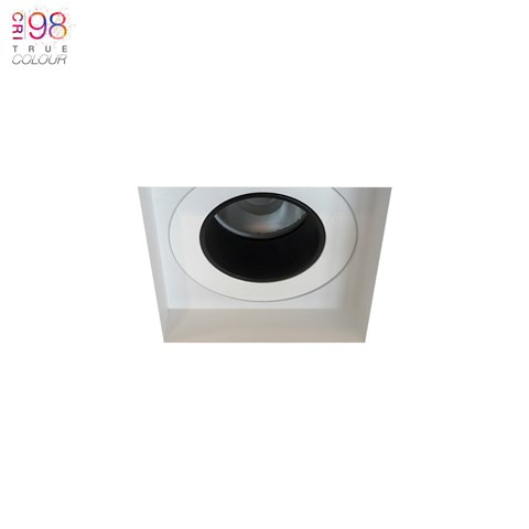 Image of Andes 1-S Square Fixed Plaster In LED Downlight