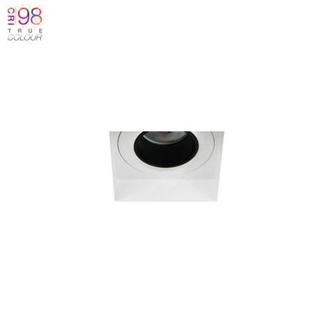 Image of Andes Mini 1-S Square IP65 Fixed Plaster In LED Downlight