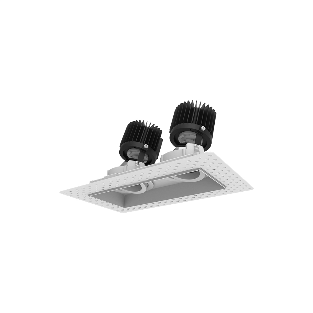 Eiger 2 Twin Adjustable Plaster In LED Downlight Image number 3