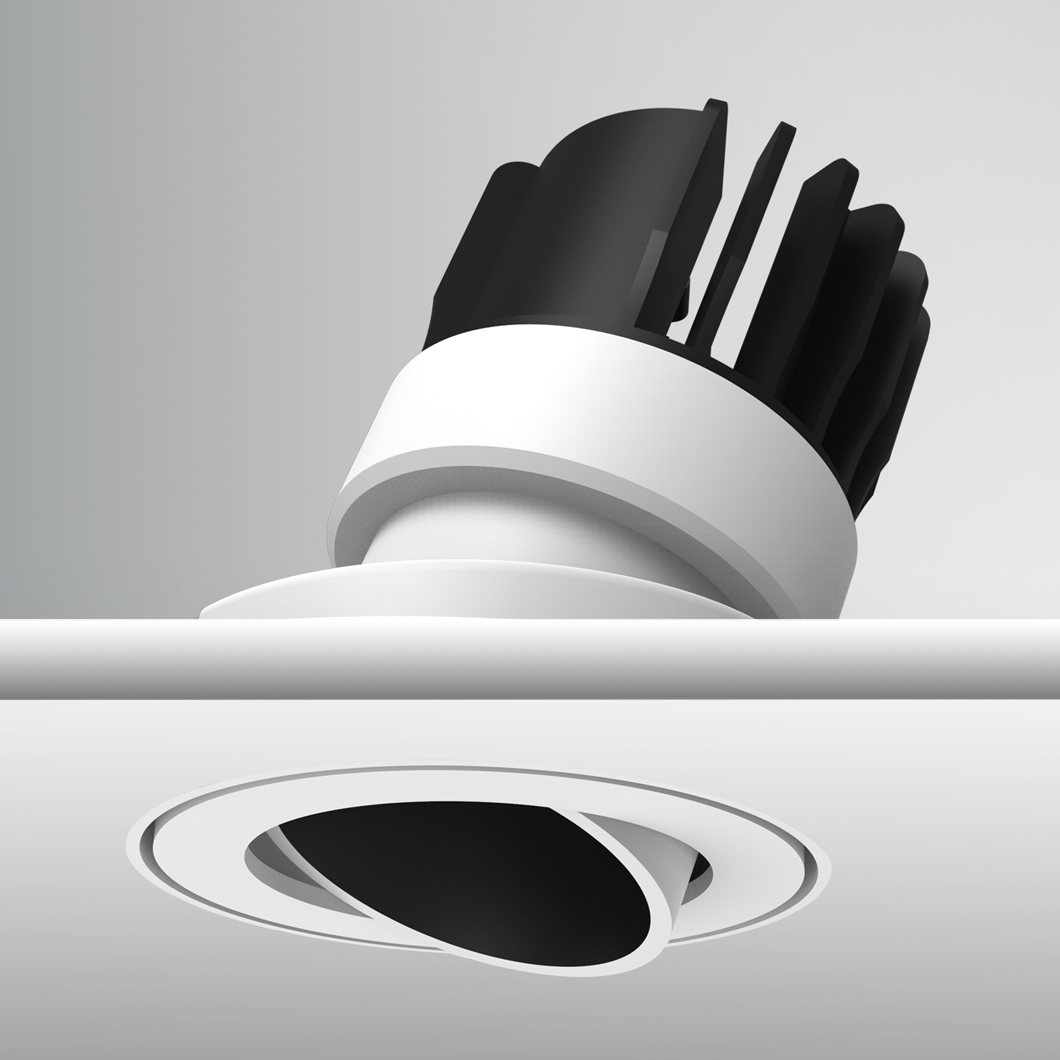 Atlas Mini IP65 Adjustable Plaster In LED Downlight Image number 3